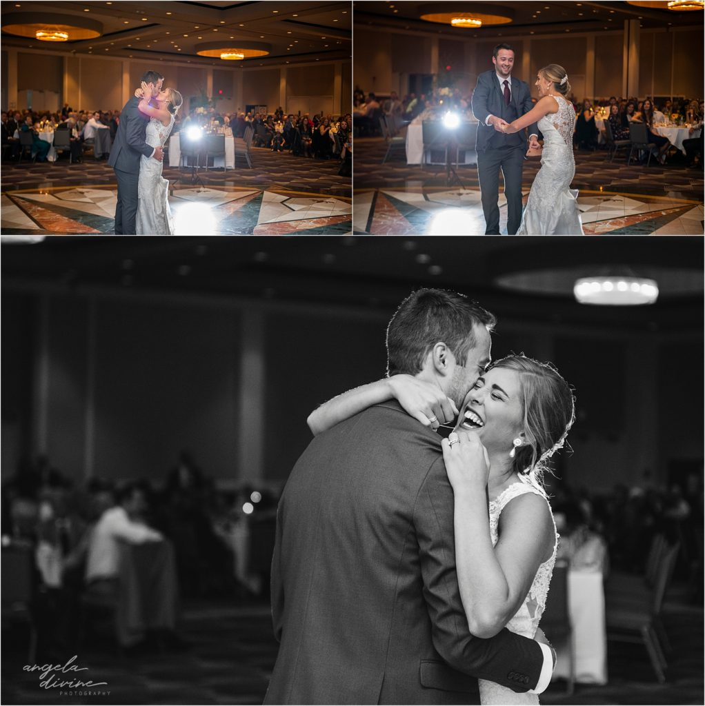 InterContinental St. Paul Riverfront Wedding first dance