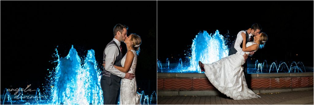 InterContinental St. Paul Riverfront Wedding fountain